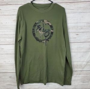 Ecko Unlimited Green Long Sleeve Thermal Shirt